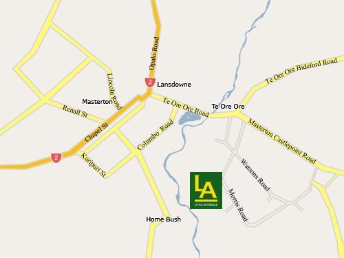 Map Of Masterton
