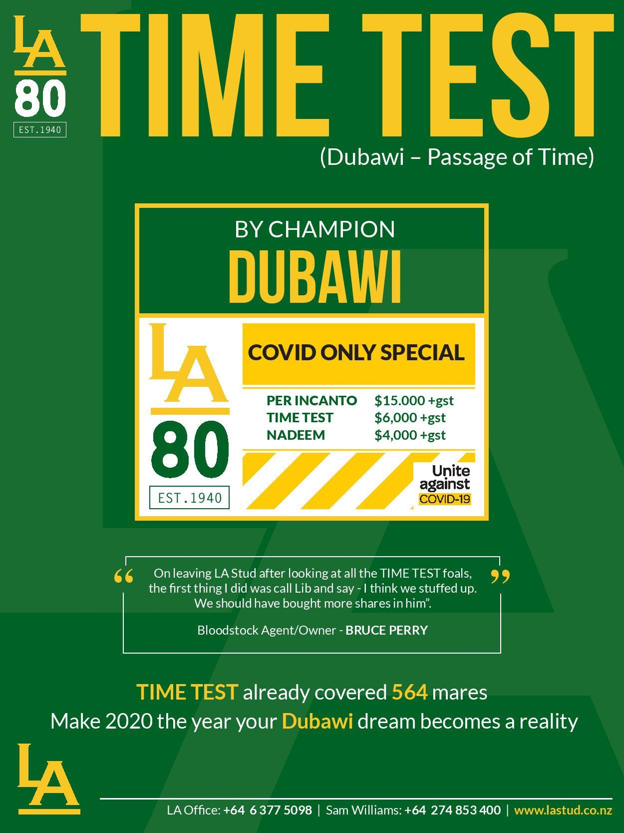 LA 80 YR COVID ONLY TIME TEST SPECIAL