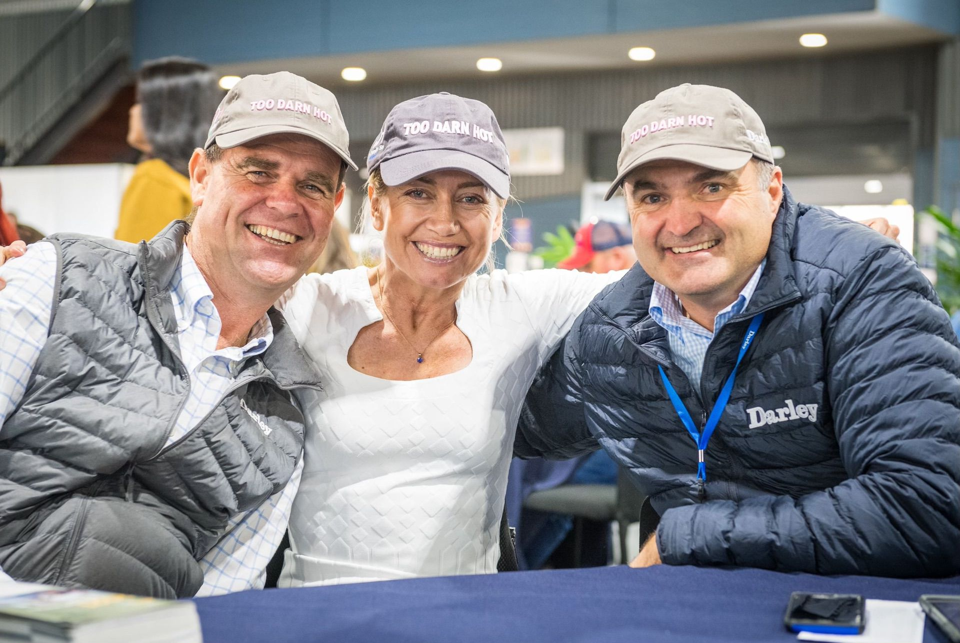 Alastair Pulford, Catriona and Vin Cox of Darley